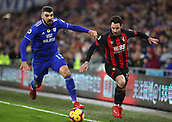 2nd February 2019, Cardiff City Stadium, Cardiff, Wales; EPL Premier League football, Cardiff City versus AFC Bournemouth; Callum Paterson of Cardiff City and Adam Smith of Bournemouth battle for the ball in the corner