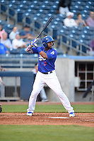 ***Temporary Unedited Reference File***Tulsa Drillers designated hitter Erisbel Arruebarrena (11) during a game against the Arkansas Travelers on April 25, 2016 at ONEOK Field in Tulsa, Oklahoma.  Tulsa defeated Arkansas 4-3.  (Mike Janes/Four Seam Images)