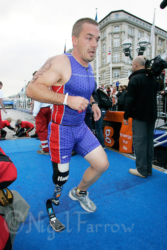 02 SEP 2007 - HAMBURG, GER - Jonathan Bik (USA) - World AWAD  Triathlon Championships. (PHOTO (C) NIGEL FARROW)