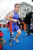02 SEP 2007 - HAMBURG, GER - Jonathan Bik (USA) - World AWAD  Triathlon Championships. (PHOTO (C) NIGEL FARROW)