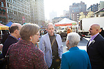 NEW YORK, NY - April 15, 2016: EPA Administrator Gina McCarthy tours the Union Square Greenmarket, with Greenmarket Director Michael Hurwitz, Grow NYC Executive Director Marcel Van Ooyen, Chef Michael Anthony of Gramercy Tavern and Untitled, and Mitchell Davis of the James Beard Foundation.<br /> <br /> CREDIT: Clay Williams for the James Beard Foundation.<br /> <br /> &copy; Clay Williams / claywilliamsphoto.com