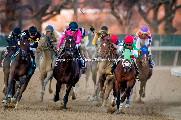 MARCH 07, 2020 : Mischevious Alex with Kendrick Carmouche aboard, wins the Grade 3 Gotham Stakes, at Aqueduct Racecourse in Ozone Park, NY.  Dan Heary/Eclipse Sportswire/CSM