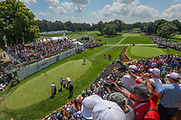 Tiger Woods (USA) makes his way to the first tee during 3rd round of the World Golf Championships - Bridgestone Invitational, at the Firestone Country Club, Akron, Ohio. 8/4/2018.<br /> Picture: Golffile | Ken Murray<br /> <br /> <br /> All photo usage must carry mandatory copyright credit (© Golffile | Ken Murray)