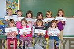 NAMES: Getting to know one another were the junior infants class of Scoil an Fhirtearaigh during their first week of school front l-r: Ide Ni Raghalla?igh, Niamh Nic Gearailt, Finn Da?ibhi?s agus Rua Ni Chuirni?n. Back l-r: Caolan O Riain, Sarah Faolan, Roisin Ni Bhrosnachain, Siobha?n Ni Chuanaigh, Ben Mac Eoin agus Mahdi Mc Conville.