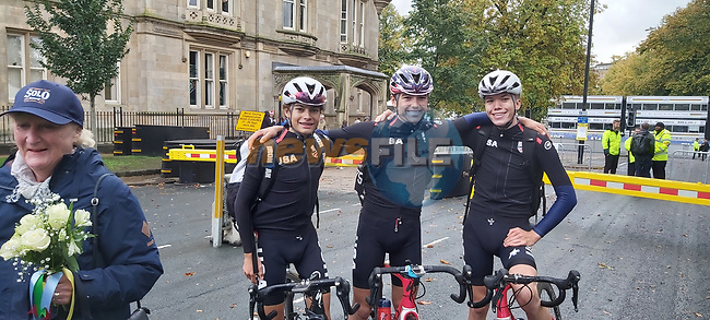 Great day for Team USA after the Men's Junior Road Race of the UCI World Championships 2019 running 148km from Richmond to Harrogate, England. 26th September 2019.<br />