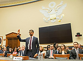 """Sundar Pichai, Chief Executive Officer of Google, is sworn-in to testify before the United States House Committee on the Judiciary on """"Transparency & Accountability: Examining Google and its Data Collection, Use and Filtering Practices"""" on Capitol Hill in Washington, DC on Tuesday, December 11, 2018.<br /> Credit: Ron Sachs / CNP<br /> (RESTRICTION: NO New York or New Jersey Newspapers or newspapers within a 75 mile radius of New York City)"""