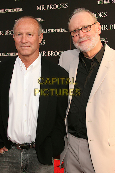 "RAYNOLD GIDEON (WRITER) & BRUCE EVANS (DIRECTOR / WRITER). ""Mr. Brooks"" Los Angeles Premiere at Grauman's Chinese Theatre, Hollywood, California, USA..May 22nd, 2007.half length black beige suit jacket glasses beard facial hair .CAP/ADM/BP.©Byron Purvis/AdMedia/Capital Pictures"