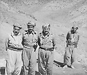 Iraq 1978 <br /> In Nawzeng, from left to right, Dr.Mahmoud Osman, Mullazem Omar and Jalal Talabani<br /> Irak 1978<br /> A Nawzeng, de gauche a droite, Dr. Mahmoud Osman, Mullazem Omar Abdallah et Jalal Talabani