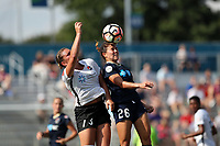 Cary, North Carolina  - Saturday July 01, 2017: Samantha Witteman and Madison Tiernan during a regular season National Women's Soccer League (NWSL) match between the North Carolina Courage and the Sky Blue FC at Sahlen's Stadium at WakeMed Soccer Park.
