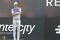 Haotong Li (CHN) prepares to tee off the 18th tee during Saturday's Round 3 of the 2018 Turkish Airlines Open hosted by Regnum Carya Golf &amp; Spa Resort, Antalya, Turkey. 3rd November 2018.<br /> Picture: Eoin Clarke | Golffile<br /> <br /> <br /> All photos usage must carry mandatory copyright credit (&copy; Golffile | Eoin Clarke)