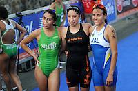 Triatlón Sports World Veracruz 2013- Paola Castañeda Reyes, Paola Alejandra Díaz Gómez, Andrea Berenice Gutiérrez González. ©NortePhoto.com ..<br /> YahirCeballos/NortePhoto