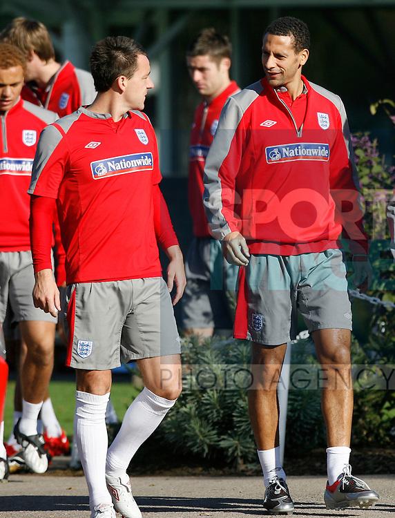 England's John Terry and Rio Ferdinand