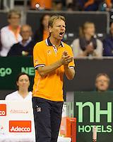 September 12, 2014, Netherlands, Amsterdam, Ziggo Dome, Davis Cup Netherlands-Croatia, Dutch captain Jan Siemerink<br /> Photo: Tennisimages/Henk Koster