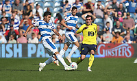 Queens Park Rangers' Massimo Luongo.and Blackburn Rovers' Joe Rothwell<br /> <br /> Photographer Rob Newell/CameraSport<br /> <br /> The EFL Sky Bet Championship - Queens Park Rangers v Blackburn Rovers - Friday 19th April 2019 - Loftus Road - London<br /> <br /> World Copyright © 2019 CameraSport. All rights reserved. 43 Linden Ave. Countesthorpe. Leicester. England. LE8 5PG - Tel: +44 (0) 116 277 4147 - admin@camerasport.com - www.camerasport.com