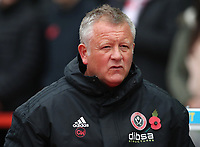 Sheffield United manager Chris Wilder <br /> <br /> Photographer Rachel Holborn/CameraSport<br /> <br /> The EFL Sky Bet Championship - Nottingham Forest v Sheffield United - Saturday 3rd November 2018 - The City Ground - Nottingham<br /> <br /> World Copyright &copy; 2018 CameraSport. All rights reserved. 43 Linden Ave. Countesthorpe. Leicester. England. LE8 5PG - Tel: +44 (0) 116 277 4147 - admin@camerasport.com - www.camerasport.com