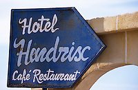 Afrique/Maghreb/Maroc/Env d'Essaouira/Diabat : Enseigne de l'hôtel Hendrix