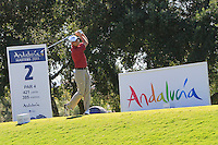 David Howell (ENG) during the 2nd day at the  Andalucía Masters at Club de Golf Valderrama, Sotogrande, Spain. .Picture Denise Cleary www.golffile.ie