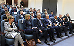 Palestinian Prime Minister Rami Hamdallah attends a meeting about donor countries in Palestine, at his office in the West Bank city of Ramallah, on May 24, 2017. Photo by Prime Minister Office