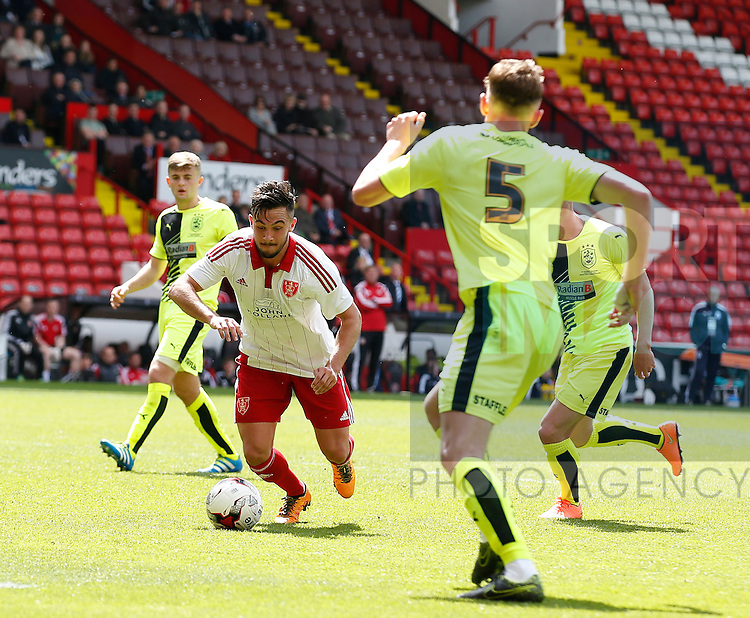 Diego De Girolamo of Sheffield Utd in action during the PDL U21 Final at Bramall Lane Sheffield. Photo credit should read: Simon Bellis/Sportimage