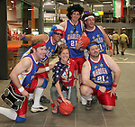 12 June 2006: A group of U.S. fans travel to the game dressed up as members of the Harlem Globetrotters. The United States played the Czech Republic at Veltins Arena in Gelsenkirchen, Germany in match 10, a Group E first round game, of the 2006 FIFA World Cup.