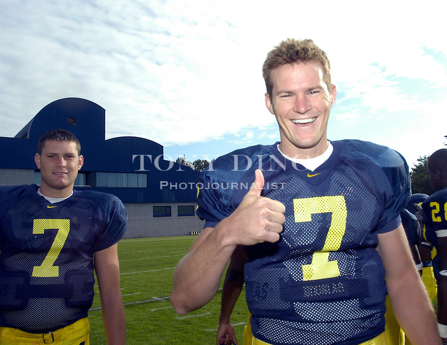 .Michigan Football Media Day on Thursday, August 12, 2004 in Ann Arbor, Mich. (Photo by TONY DING/The Michigan Daily).