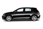 Car Driver side profile view of a 2014 Volkswagen GOLF GTD 5 Door Hatchback Side View