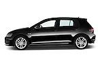 Car Driver side profile view of a 2014 Volkswagen GOLF GTD 5 Door Hatchback Side View