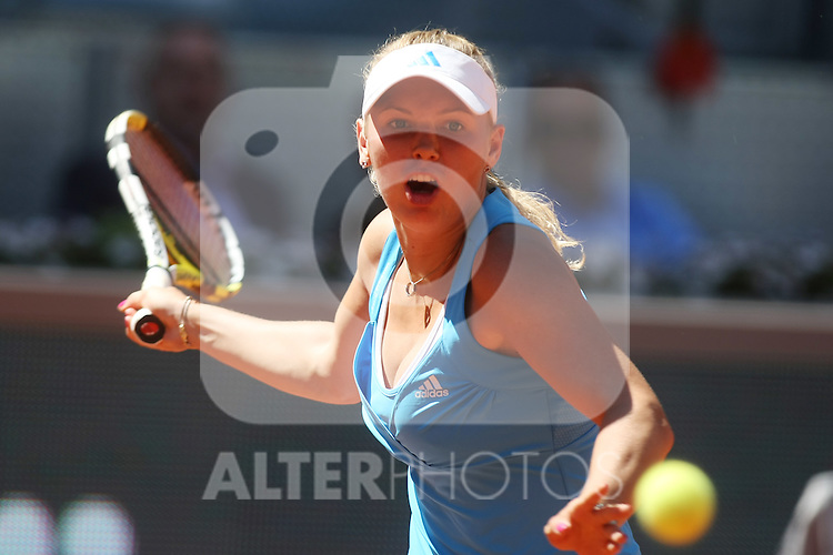 Denmark's Caroline Wozniacki during his Madrid Open semi final match.May 15 2009.(ALTERPHOTOS/Acero).