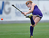 Oyster Bay No. 8 Wendy Finn follows through on a shot during the Nassau County varsity field hockey Class C final against Carle Place at Adelphi University on Sunday, November 1, 2015. Carle Place won by a score of 5-0.<br /> <br /> James Escher