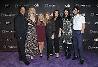 09 September 2018 - Beverly Hills, California - {oJohn Stamos, Elizabeth Lail, Caroline Kepnes, Sarah Schechter, Gina Girolamo, Sera Gamble, Penn Badgley. &quot;You&quot; at The Paley Center For Media's 2018 PaleyFest Fall TV Previews held at The Paley Center for Media . <br /> CAP/ADM/PMA<br /> &copy;PMA/ADM/Capital Pictures