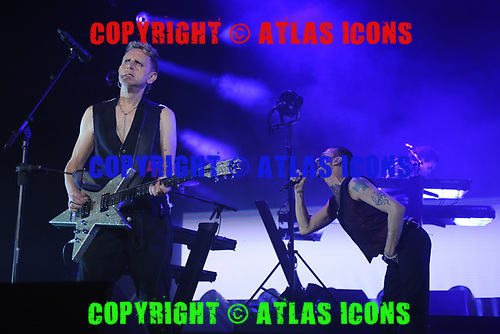 MIAMI, FL - SEPTEMBER 15: Martin Gore and Dave Gahan of Depeche Mode perform at the AmericanAirlines Arena on September 15, 2017 in Miami Florida. Credit Larry Marano © 2017
