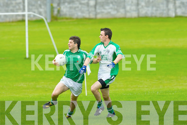 Dylan Seymore Na Gaeil tries to go past Ballyduff's Anthony Carroll during their league clash in Tralee on Sunday