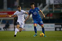 23rd November 2019; Caledonian Stadium, Inverness, Scotland; Scottish Championship Football, Inverness Caledonian Thistle versus Dundee Football Club; Charlie Trafford of Inverness Caledonian Thistle and Jamie Ness of Dundee  - Editorial Use