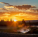 Kodak Corner is a great place for Yellowstone sunrises.