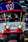 21 September 2018: The Washington Nationals introduced a new Pitcher's Cart this season shown here during a game against the New York Mets at Nationals Park in Washington, DC. The Mets defeated the Nationals 4-2 in the second game of their 4-game series. Mandatory Credit: Ed Wolfstein Photo *** RAW (NEF) Image File Available ***