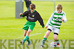 Listowel Celtic's Tadgh McEvoy show's great control against Kingdom Boys Nemanga Samardic in the JK Sports U12's premier division at Cahermoneen, Tralee on Saturday.