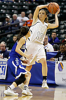 Penn Kaitlyn Marenyi (10) looks to pass during the IHSAA Class 4A Girls Basketball State Championship Game on Saturday, Feb. 27, 2016, at Bankers Life Fieldhouse in Indianapolis.