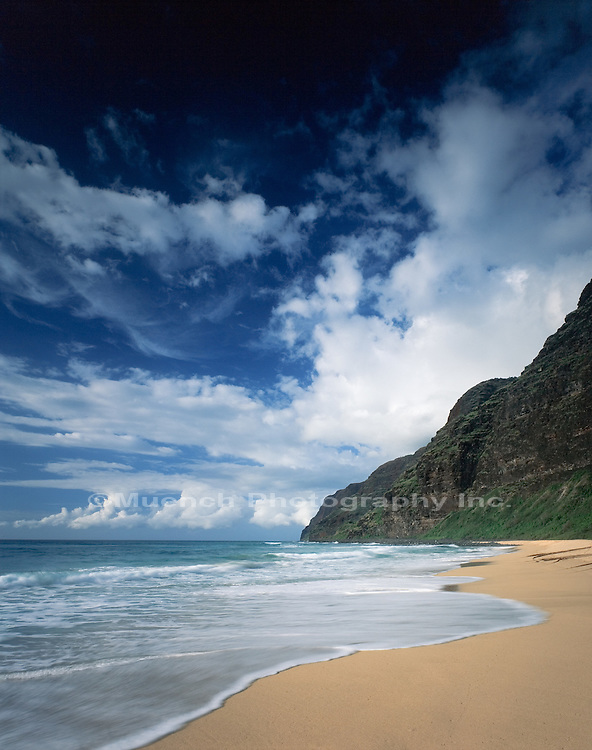 Na Pali Coast, Barking Sands Beach, Kauai Island,