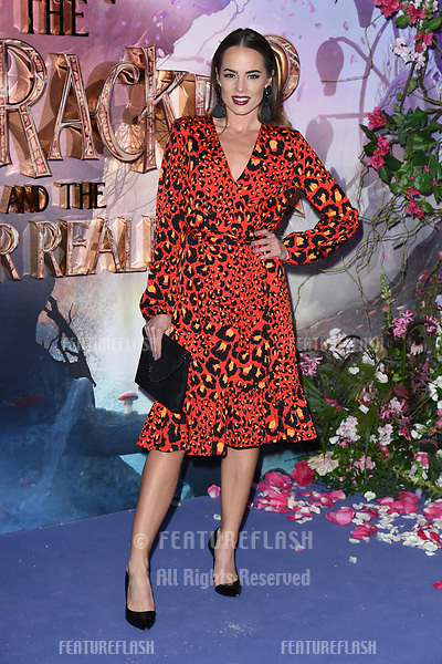 """LONDON, UK. November 01, 2018: Emma Conybeare at the European premiere of """"The Nutcracker and the Four Realms"""" at the Vue Westfield, White City, London.<br /> Picture: Steve Vas/Featureflash"""