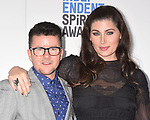 SANTA MONICA, CA - FEBRUARY 25: Director Silas Howard (L) and actor Trace Lysette attend the 2017 Film Independent Spirit Awards at the Santa Monica Pier on February 25, 2017 in Santa Monica, California.