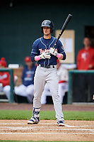 New Hampshire Fisher Cats second baseman Cavan Biggio (6) at bat during the second game of a doubleheader against the Harrisburg Senators on May 13, 2018 at FNB Field in Harrisburg, Pennsylvania.  Harrisburg defeated New Hampshire 2-1.  (Mike Janes/Four Seam Images)