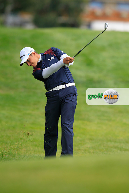 Dominic Foos (GER) in action during Thursday's Round 1 of the 2014 Omega European Masters held at the Golf Club Crans-sur-Sierre, Crans Montana, Switzerland.: Picture Eoin Clarke, www.golffile.ie: 4th September 2014