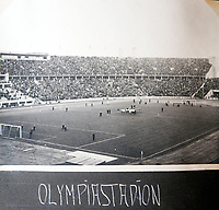 BNPS.co.uk (01202 558833)<br /> Pic: Jones&Jacob/BNPS<br /> <br /> A pre war football match in the Olympic Stadium in Berlin.<br /> <br /> Springtime for Hitler...Chilling album of pictures taken by one of Hitlers bodyguards illustrates the Nazi dictators rise to power.<br /> <br /> An unseen album of photographs taken by a member of Hitlers own elite SS bodyguard division in the years leading up to the start of WW2.<br /> <br /> The 1st SS Panzer Division 'Leibstandarte SS Adolf Hitler' or LSSAH began as Adolf Hitler's personal bodyguard in the 1920's responsible for guarding the Führer's 'person, offices, and residences'.