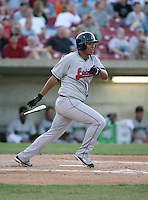 Eduardo Perez of the Great Lakes Lagoons during the Midwest League All-Star game.  Photo by:  Mike Janes/Four Seam Images