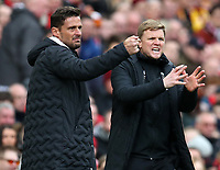 7th March 2020; Anfield, Liverpool, Merseyside, England; English Premier League Football, Liverpool versus AFC Bournemouth; Bournemouth manager Eddie Howe urges on his players from the touchline