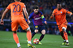 UEFA Champions League 2018/2019.<br /> Round of 16 2nd leg.<br /> FC Barcelona vs Olympique Lyonnais: 5-1.<br /> Lionel Messi vs Marcelo.