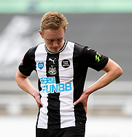 Newcastle United's Sean Longstaff reacts<br /> <br /> Photographer Alex Dodd/CameraSport<br /> <br /> FA Cup Quarter-Final - Newcastle United v Manchester City - Sunday 28th June 2020 - St James' Park - Newcastle<br />  <br /> World Copyright © 2020 CameraSport. All rights reserved. 43 Linden Ave. Countesthorpe. Leicester. England. LE8 5PG - Tel: +44 (0) 116 277 4147 - admin@camerasport.com - www.camerasport.com
