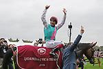 October 07, 2018, Longchamp, FRANCE - Enable with Frankie Dettori up after winning the Qatar Prix de l'Arc de Triomphe (Gr. I) at  ParisLongchamp Race Course  [Copyright (c) Sandra Scherning/Eclipse Sportswire)]
