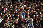 Ipswich Town fans seated in the Bridgford stand watching the action at the City Ground, Nottingham as Nottingham Forest take on visitors Ipswich Town in an Npower Championship match. Forest won the match by two goals to nil in front of 22,935 spectators.
