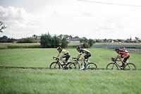 early break away group with Oliver Naesen (BEL/AG2R mondiale), Lawrence Naesen (BEL/wb Veranclassic-aqua protect) and David Boucher (BEL/Pauwels Sauzen Vastgoedservice)<br /> <br /> 102nd Kampioenschap van Vlaanderen 2017 (UCI 1.1)<br /> Koolskamp - Koolskamp (192km)